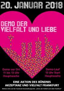 Demo der Vielfalt und Liebe